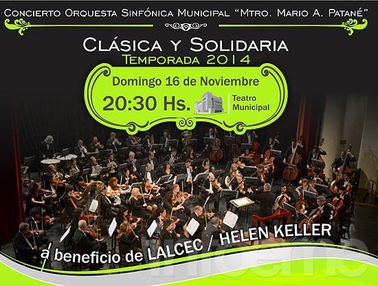 Sinfónica y un show a beneficio de LALCEC y Helen Keller