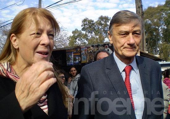 Hermes Binner y Margarita Stolbizer en Olavarría