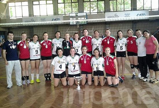 Pueblo Nuevo campeón en voleibol femenino Sub 14