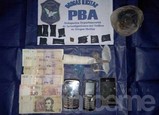 Secuestran droga preparada para su venta en allanamientos