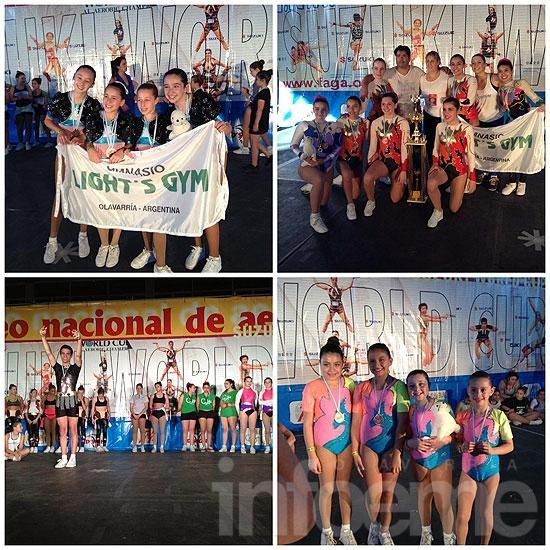 Excelentes resultados del gimnasio Light·s Gym en el Torneo Nacional de Aeróbica