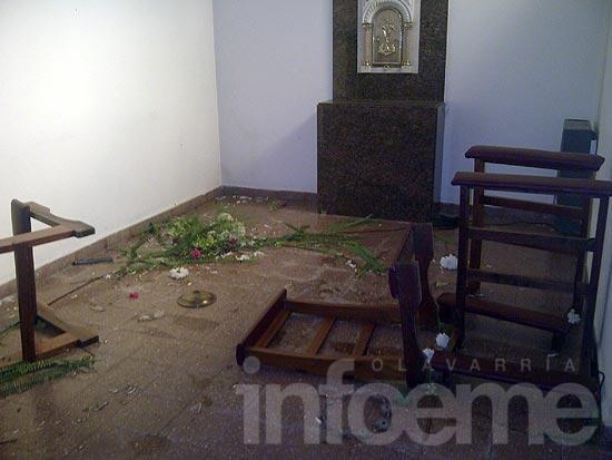 Al menos tres personas provocaron los daños en Fátima