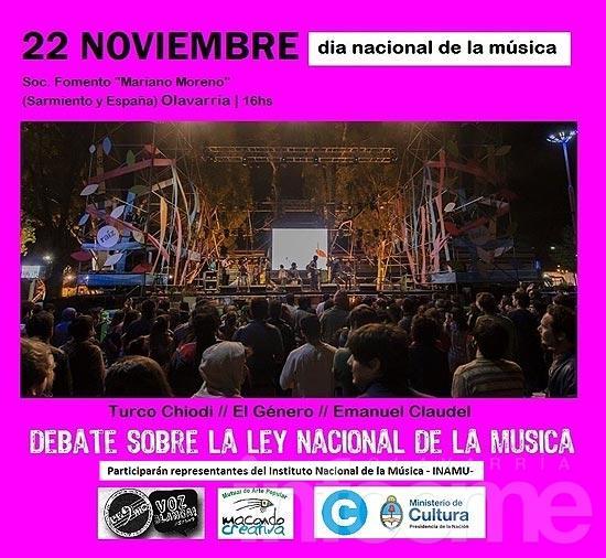 Jornada cultural y debate sobre la ley nacional de la música