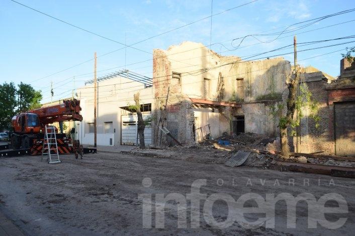 Tareas de demolición en el edificio Cereseto