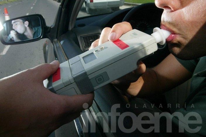 Infracciones de fin de semana: Un conductor con 3.10 mg/l de alcohol en sangre