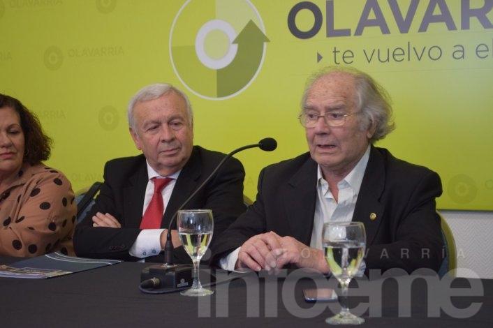 """Adolfo Pérez Esquivel volvió a Olavarría """"Hay un modelo que lo puedo apoyar, pero no le doy un cheque en blanco"""""""