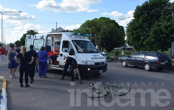 Ciclista con heridas de consideración al chocar con una moto