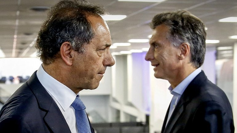 Scioli y Macri frente a frente