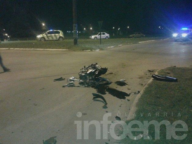 Violento accidente en Emiliozzi y la rotonda de 226: dos heridos