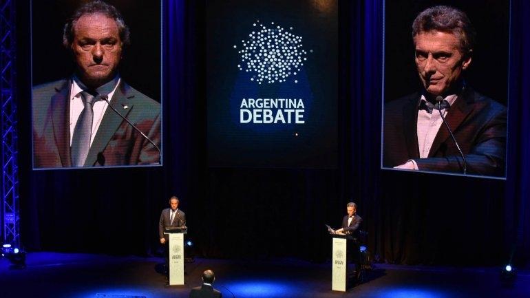 Histórico debate presidencial entre Macri y Scioli