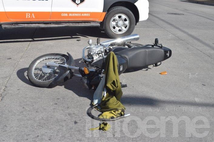 Una mujer herida en un choque en San Vicente