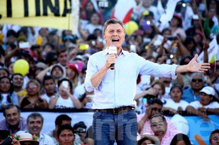 """Macri en Jujuy: """"El domingo cuento con ustedes"""""""