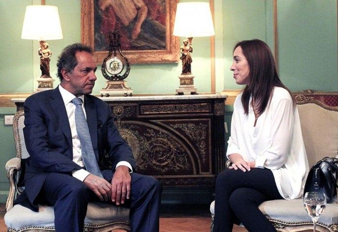 """Scioli recibió a Vidal, revisaron """"las cuentas"""" de la Provincia"""