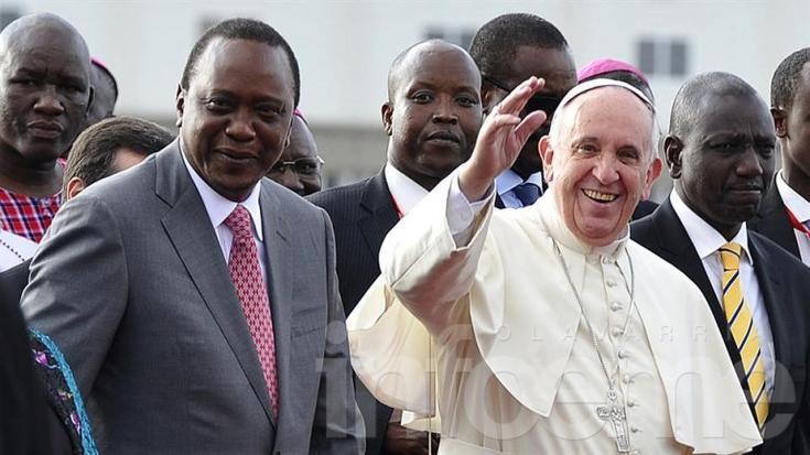 Francisco llegó a Kenia para empezar su gira por África