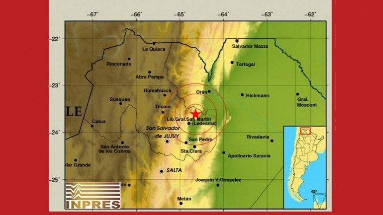 Dos temblores sacudieron a Jujuy y Salta