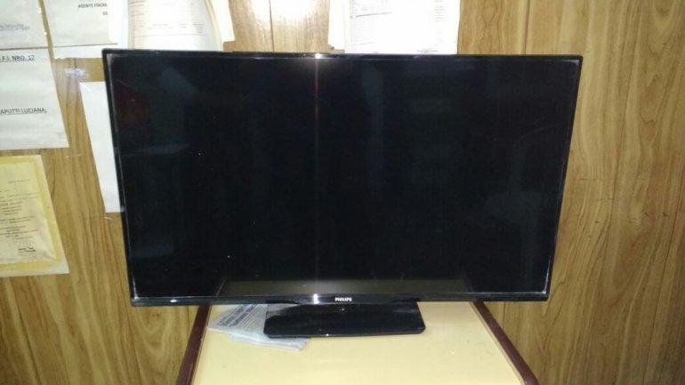 En allanamiento recuperan televisor robado