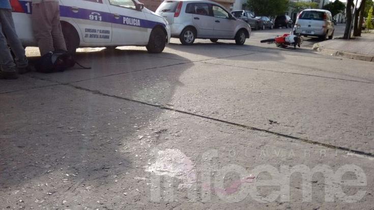 Fuerte choque con herido: conductor se dio a la fuga y luego regresó