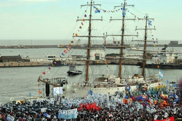 La Fragata Libertad arribó al país