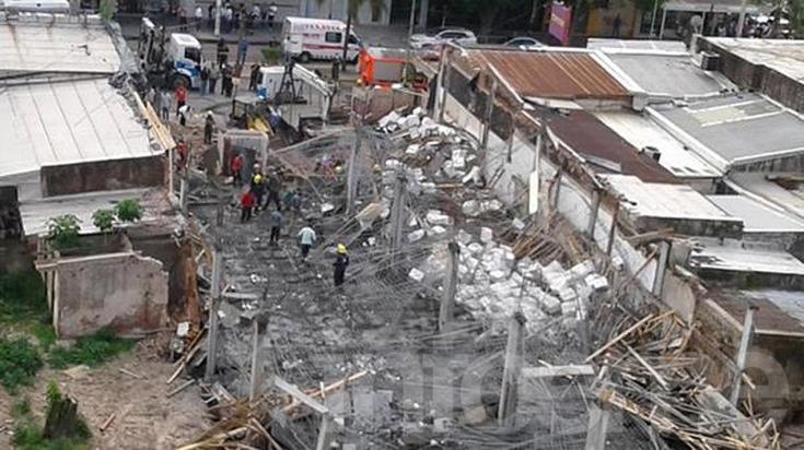 Trágico derrumbe se cobró la vida de tres obreros