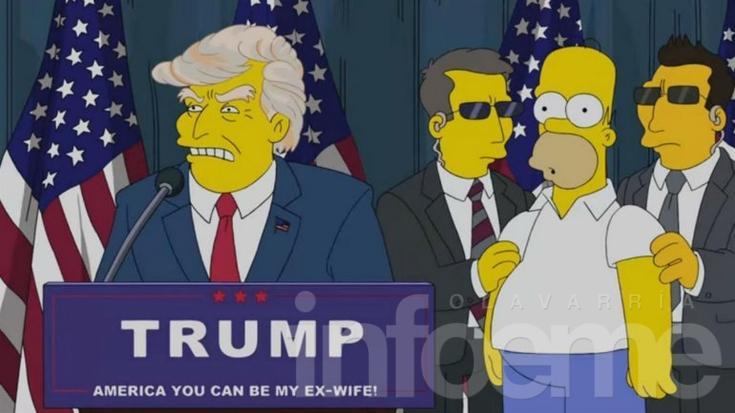 Los Simpsons predijeron la victoria de Donald Trump