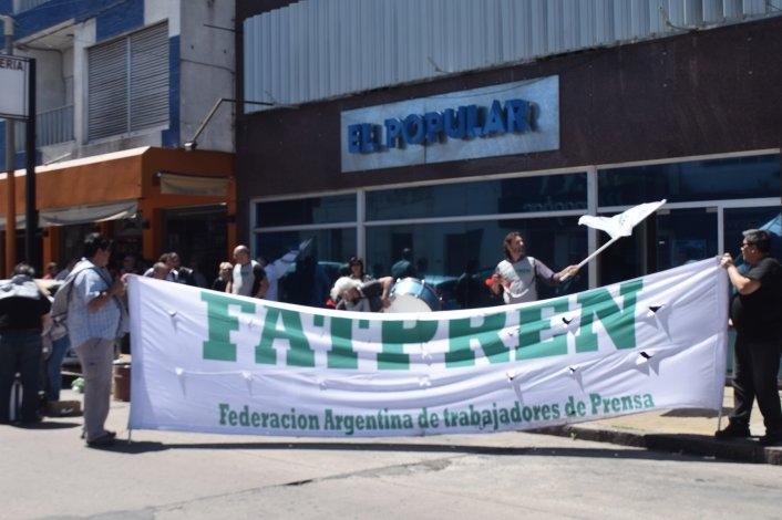 Movilización de Fatpren en Olavarría