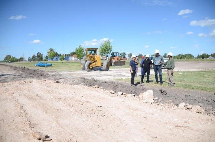 Comenzó la construcción del parque lineal en Villa Magdalena