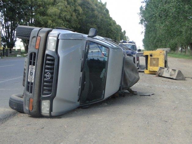 Volcó una camioneta en Ruta 51: un herido