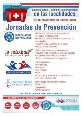 Jornada de prevención en Santa Luisa