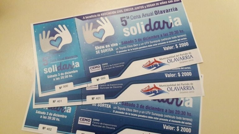 Cena Solidaria: últimos días para adquirir entradas