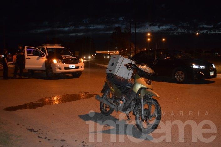 Se cayó de la moto y sufrió heridas