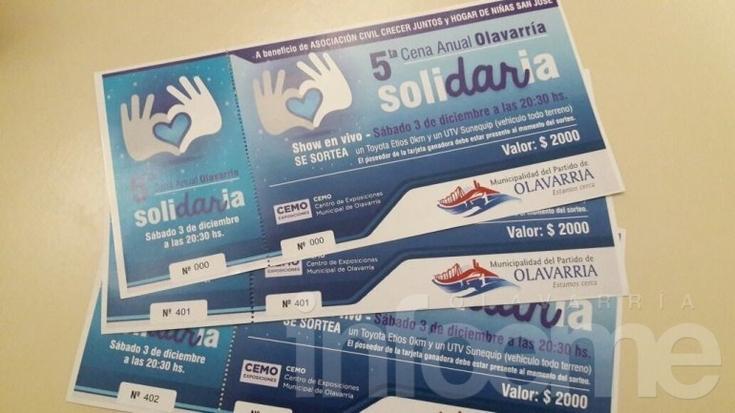 Cena Solidaria: último día para adquirir las tarjetas