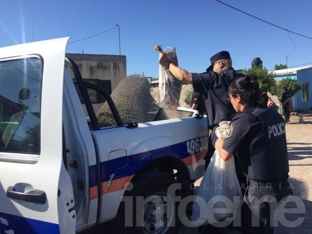 Secuestraron muchas armas en allanamientos por abigeato