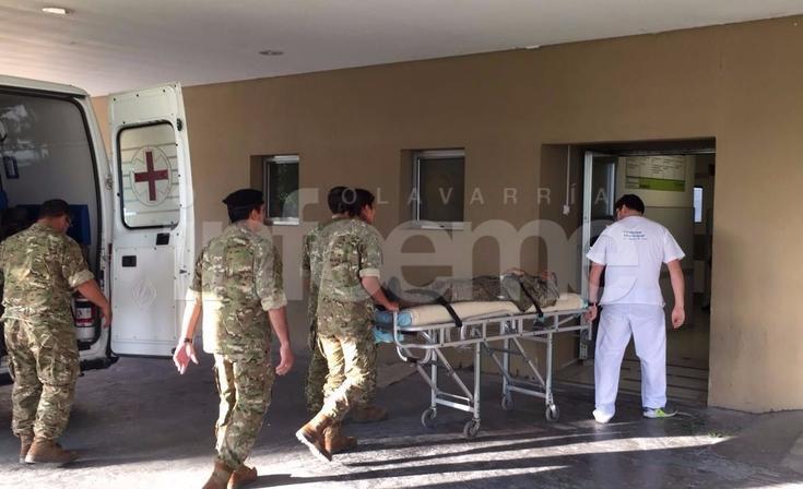 Tragedia militar: trasladaron a un herido a Olavarría