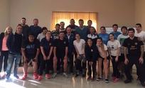 Conte y Montesano junto a los futuros entrenadores
