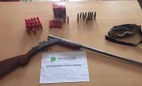 Sierras Bayas: secuestran una escopeta y municiones