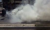 Video: así se incendiaba un auto en España y Pueyrredón