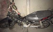 Encuentran una moto abandonada