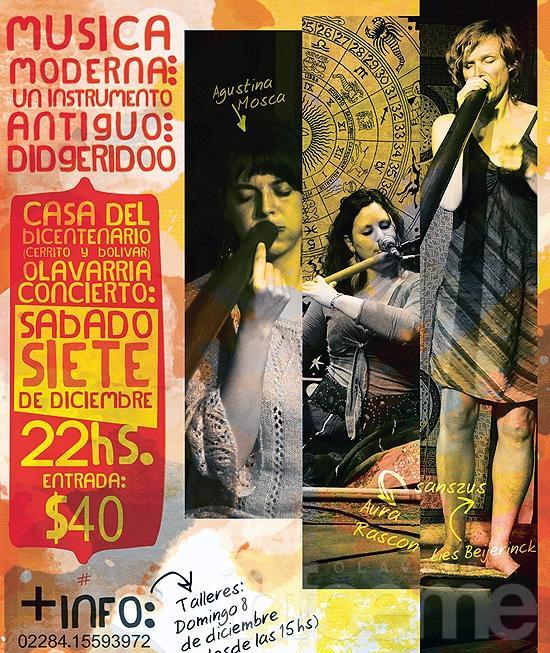 Concierto y taller de didgeridoo en la Casa del Bicentenario