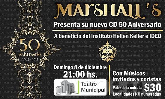 """""""Los Marshall"""" presentan su disco 50° aniversario en el Teatro"""