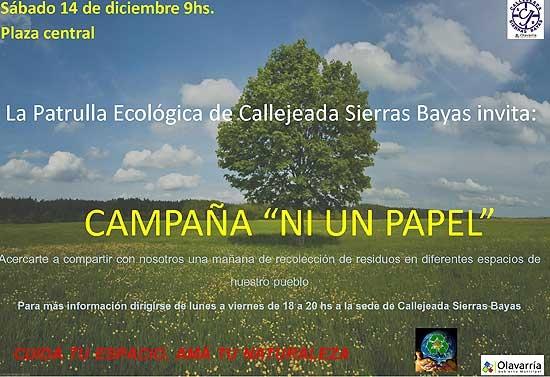 """Campaña ambiental para """"limpiar"""" Sierras Bayas"""