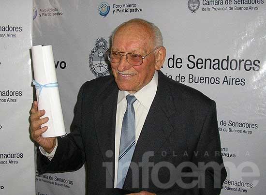 Pedro Bacchiarello, distinguido en la Cámara de Senadores
