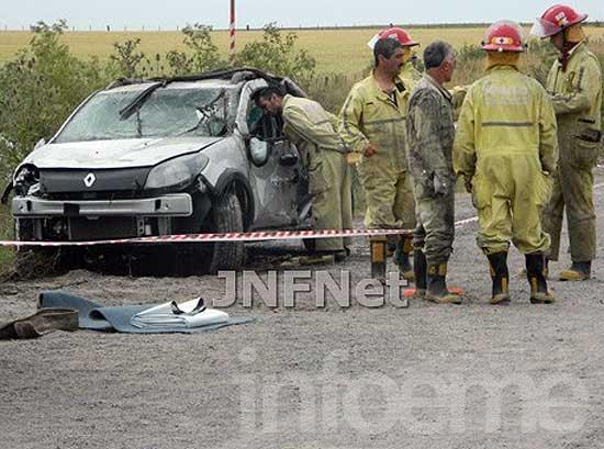 Tres olavarrienses fallecieron en un accidente cerca de La Dulce