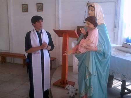 La Virgen del Rosario arribó a la Unidad 38