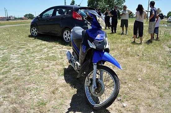 Motociclista herido en un extraño accidente