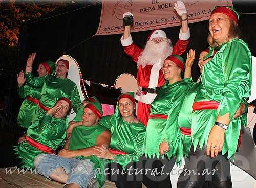 Papá Noel llegó a Loma Negra para repartir sus regalos