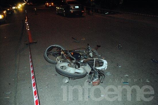 Motociclista herido durante la madrugada de Navidad
