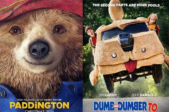 Llegan Paddington y Tonto y  re tonto 2 al Cine Paris