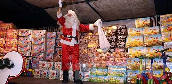 Papá Noel estará en Loma Negra