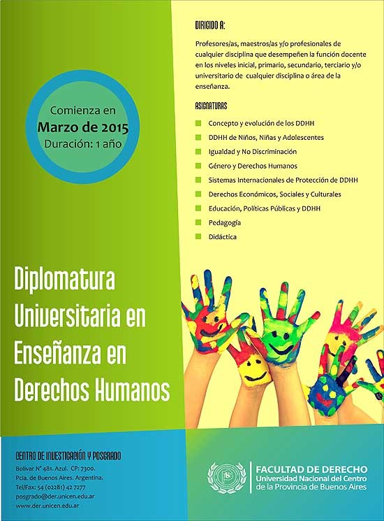 Diplomatura Universitaria en Enseñanza en Derechos Humanos