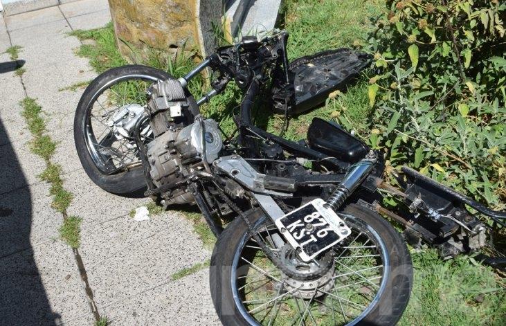 Motociclista en grave estado tras protagonizar un accidente